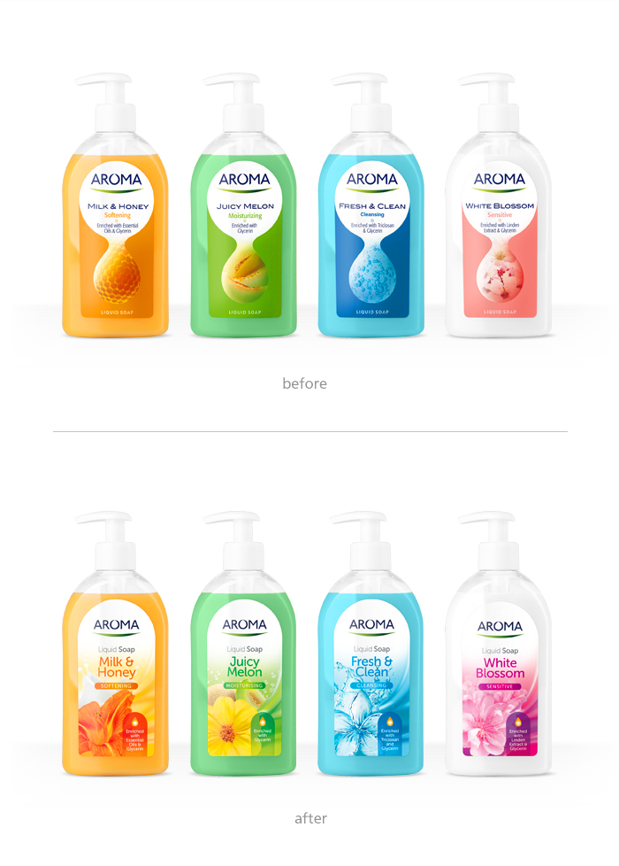 Aroma soaps_package design_before-after_2